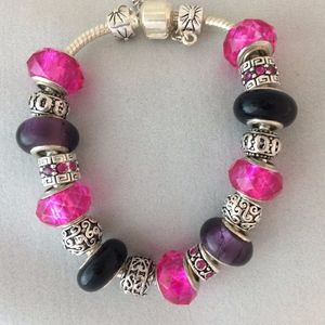 Jewelry - Pink and Silver Charm Bracelet
